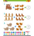 addition maths activity vector image vector image