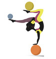 african woman do exercises with the balls vector image