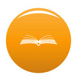 book literature icon orange vector image vector image