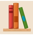 Book shelf flat vector image