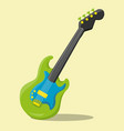 boy rock band guitar 03 vector image vector image
