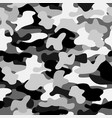 camouflage seamless pattern in black white and vector image vector image