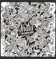 cartoon cute doodles hand drawn india vector image vector image