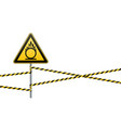caution oxidizer safety sign safety at work vector image vector image