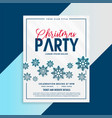 christmas flyer template with snowflakes and vector image vector image