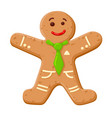 christmas gingerbread man cute decorated cookie vector image vector image