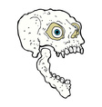 comic cartoon scary skull vector image vector image