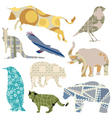 decorative animals vector image vector image