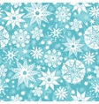 Decorative Snowflake Frost Seamless Pattern vector image
