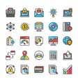 digital and internet marketing icons set 5 vector image