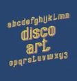 disco art typeface retro font isolated english vector image