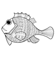 doodle of fish vector image vector image