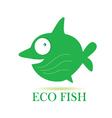 eco fish vector image vector image