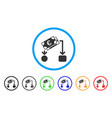 euro cash flow rounded icon vector image vector image