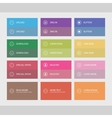 Flat user interface buttons vector image vector image