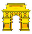 gate new delhi india icon cartoon vector image vector image