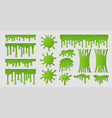 green slime goo paint drip spooky liquid borders vector image