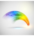 Grunge watercolor rainbow background brushed ink vector image