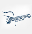 Hands guitar sketch line design music instrument