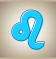 leo sign sky blue icon with vector image