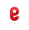Letter E star logo icon design template elements vector image vector image