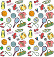 light colored sport seamless pattern vector image