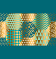 luxury xmas patchwork seamless pattern vector image