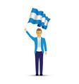 man waving an argentina flag vector image vector image