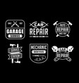 mechanic logo and badge good for print vector image