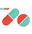 medical pills pill and capsule icons vector image