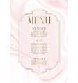 menu design with elegant pink marble design vector image vector image