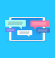 mobile application chat interface message vector image