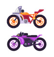 motorbikes concepts isolated on white background vector image