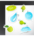 nature stickers vector image vector image