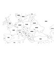 outline map of europe with caucasian region vector image vector image