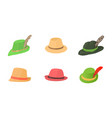 panama hat icon set cartoon style vector image vector image