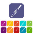 pregnancy test with positive pregnant icons set vector image