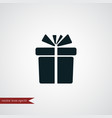 present icon simple vector image vector image
