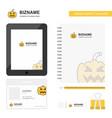 pumpkin business logo tab app diary pvc employee vector image vector image