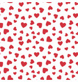 red hearts seamless pattern love concept vector image