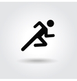 Running man icon white black silhouette vector image vector image