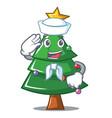 sailor christmas tree character cartoon vector image vector image