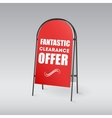 Sandwich board with an inscription on a red vector image vector image