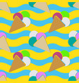 seamless - ice cream and color scoops vector image