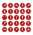 set icons real athletes vector image