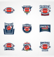 set of american football logo template college vector image vector image
