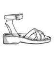 shoes on white vector image vector image