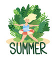 summer girl swimmer vector image vector image