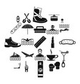 therapy icons set simple style vector image