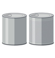 Two aluminum cans without label vector image vector image